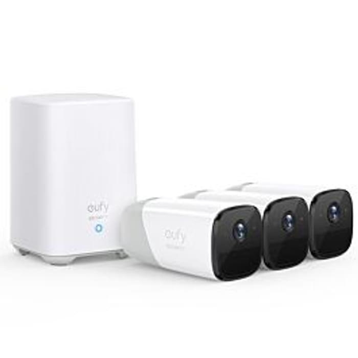 *SAVE £80* EufyCam 2 Pro - 3 Cam Kit + HomeBase 2 - White