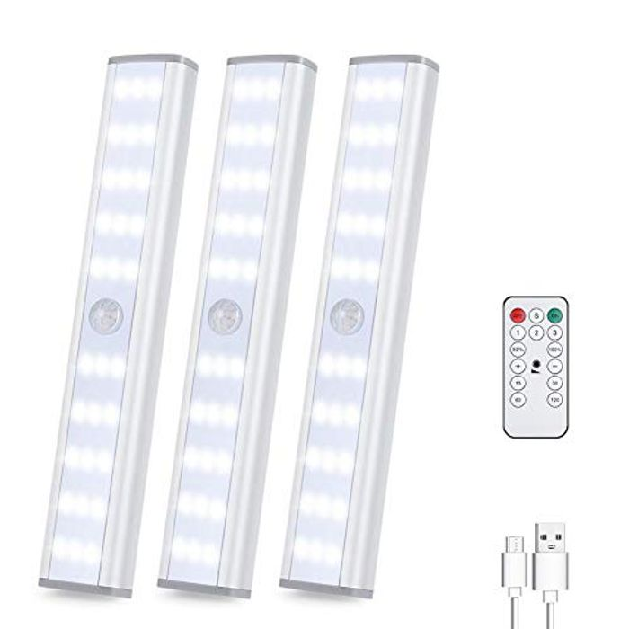 Under Cupboard Lights USB with 3 Lighting Modes Removable Magnetic Strip