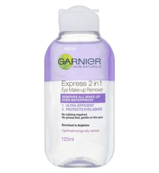 Special Offer! Garnier Skin Naturals 2in1 Eye Make-Up Remover 125ml
