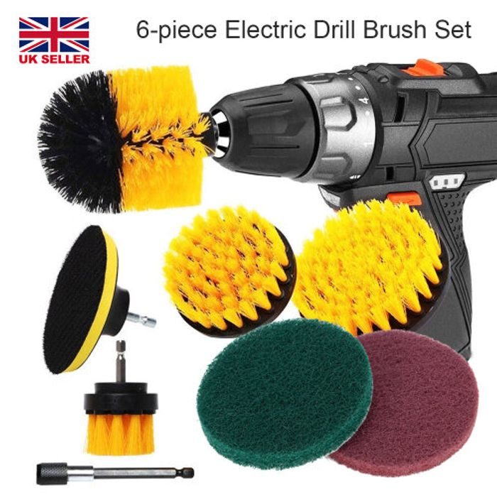 6pcs Drill Brush Electric Attachment Set