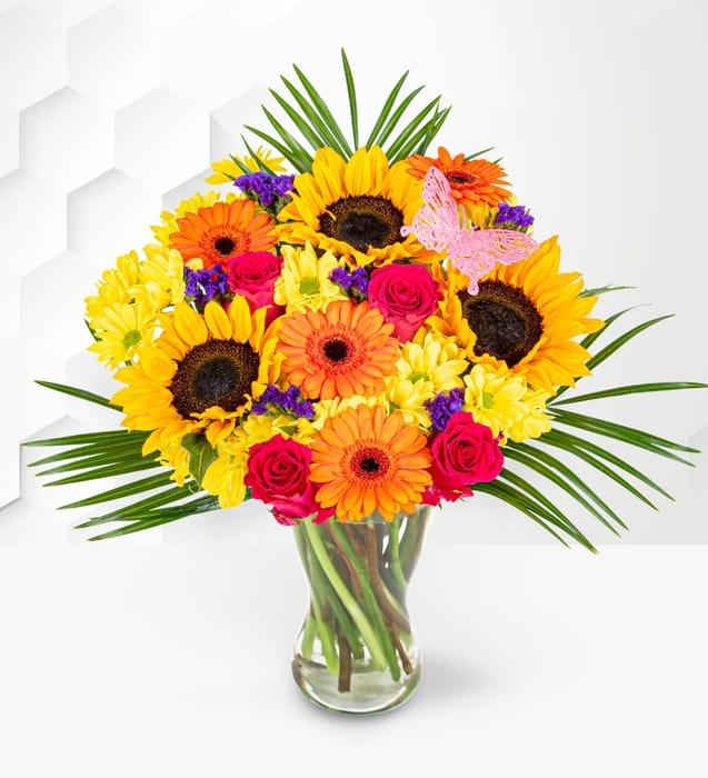 British Summer Bouquet plus Free Chocolates
