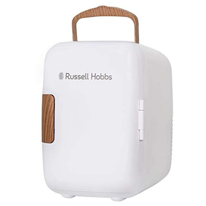 Russell Hobbs RH4CLR1001SCW 4L/6 Can Mini Portable Cooler & Warmer