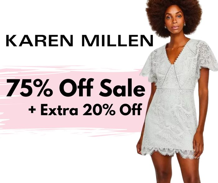 Karen Millen Up To 75% Off Sale + Extra 20% Off & Free Delivery