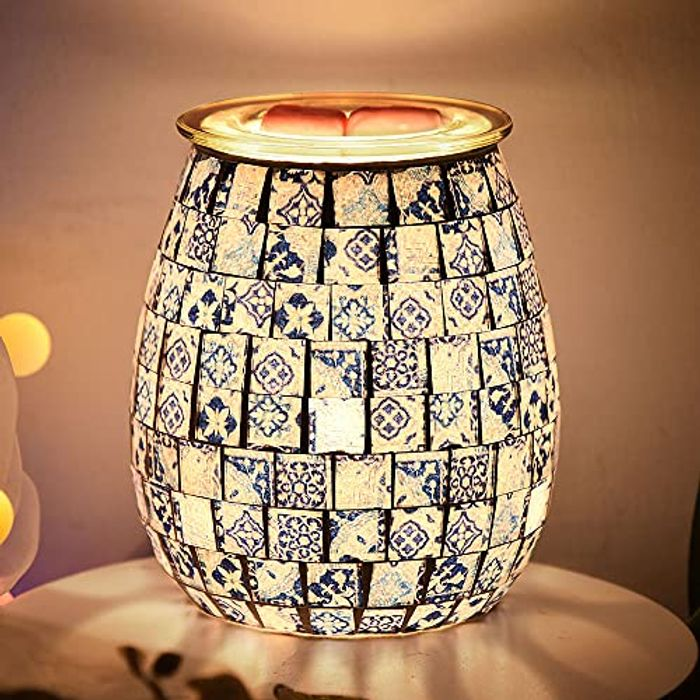 Prenine Oil Burner Mosaic Aroma Lamp with Detachable LED - Only £8.99!