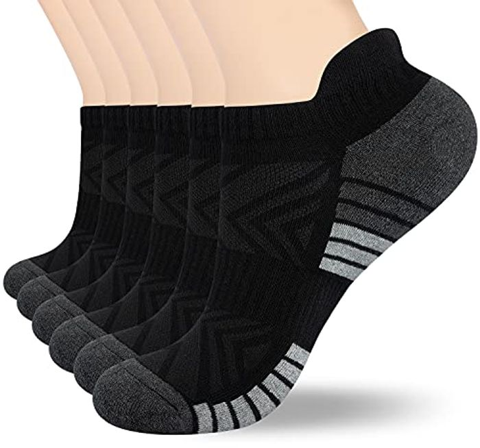 Cushioned Running Ankle Socks - 6 Pairs
