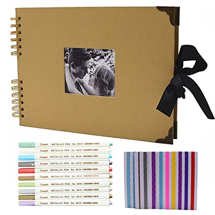 Scrapbook Photo Album 80 Black Pages with Accessories - Only £8.97!