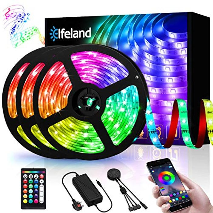 60% off 15M RGB LED Strip Light with Remote