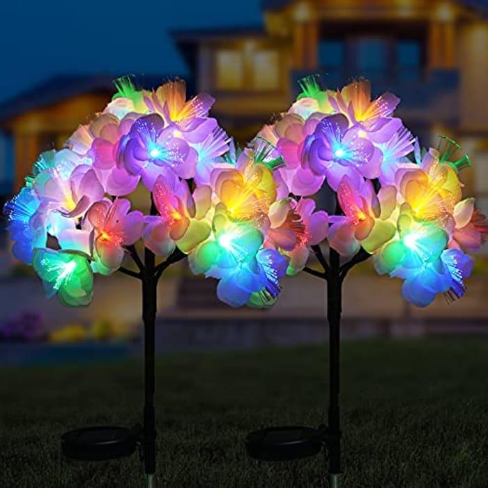 BOKEYU Solar Outdoor Garden Lights - Only £13.78!