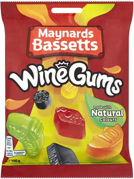 Maynards Bassetts Wine Gums Sweets Bag, 190g