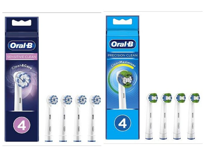 Oral-B Precision / Sensitive Toothbrush Head CleanMaximiser Technology 4 Pack