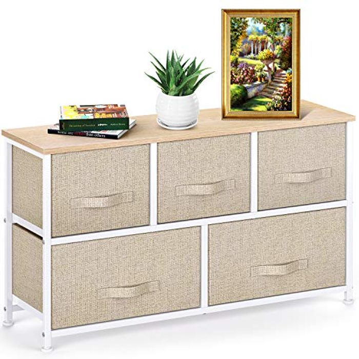 DEAL STACK - Pipishell Chest of Fabric Large Storage Space Drawers + 10% Coupon