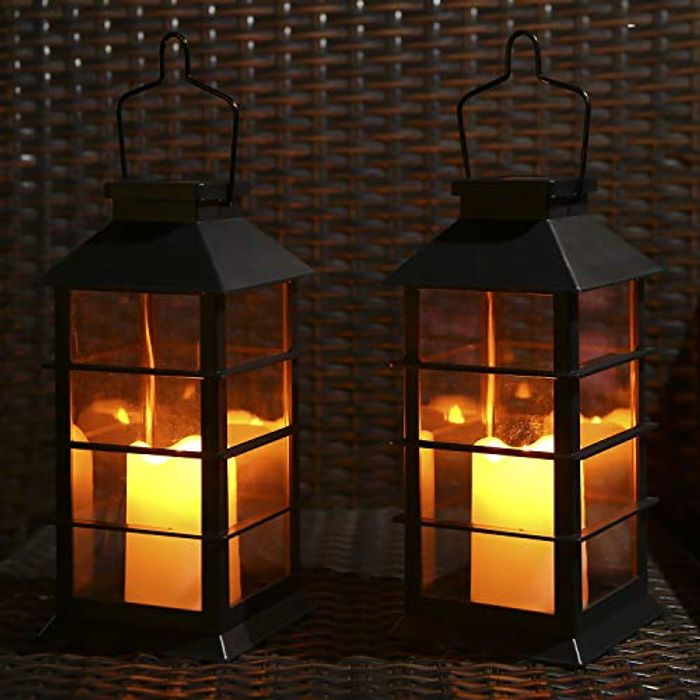 Outdoor Solar Lanterns Candle Lights