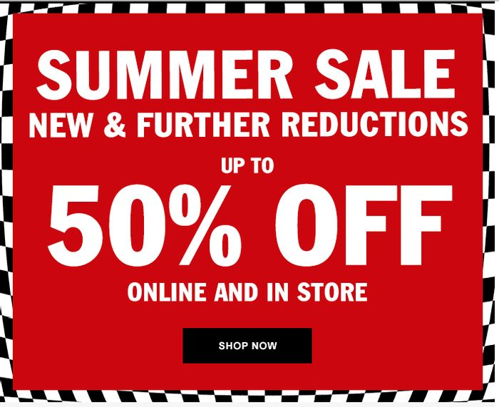 VANS Up To 50% Off & Extra 10% Code + FREE Delivery - Ends Tonight!