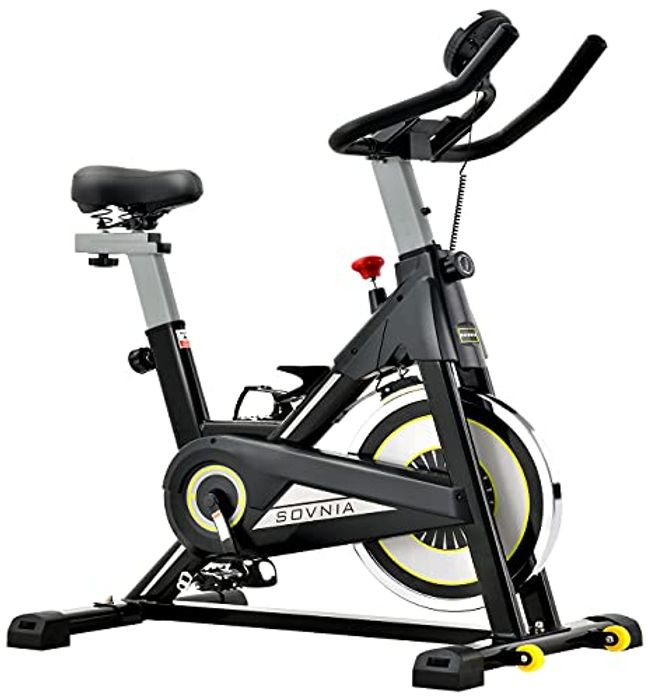 Deal Stack Stationary Bikes, Fitness Bike with iPad Holder, LCD Monitor