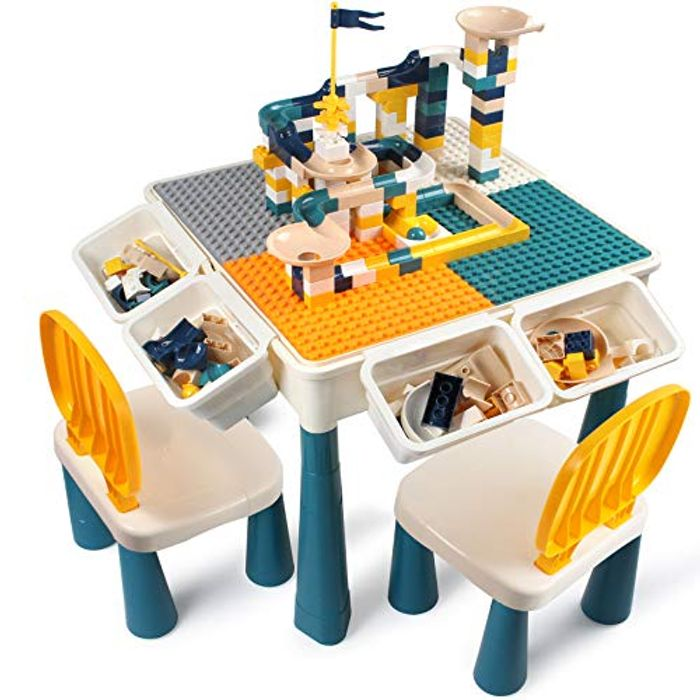 Kids Activity Height Adjustable Table and 2 Chair Set