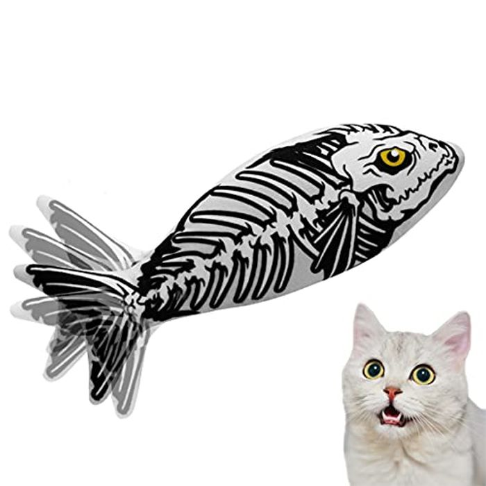 Krisimil Interactive Cat Toy Moving Cat Kicker Fish Toy - Only £2.99!