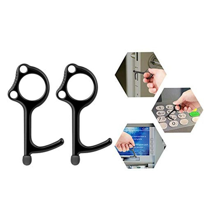 No Touch Door Opener Tool Handheld EDC Keychain - Only £1.99!