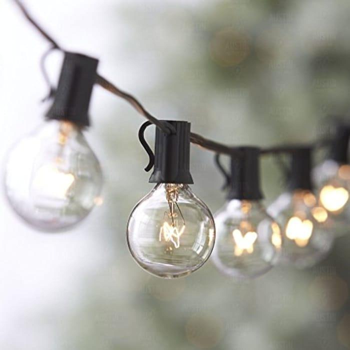 Globe Festoon String Light Bulb 27Ft G40 Indoor outside - Only £14.89!