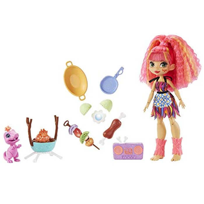 Cave Club Wild about Bbqs Playset + Emberly Doll - Only £4.99!