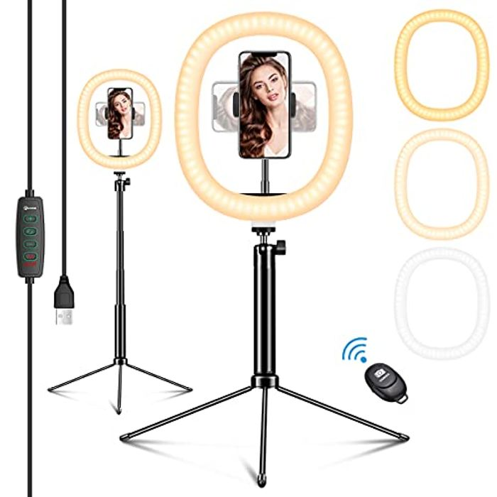 """70% off 12"""" LED Ring Light with Tripod Stand & Phone Holder"""