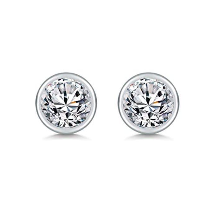 SAKUNALA Silver Stud Earrings for Women - Only £3.60!