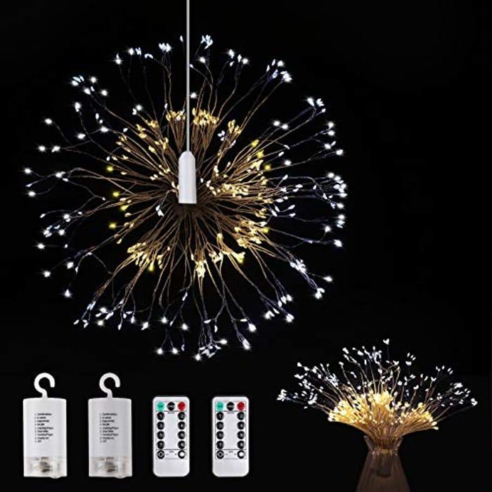 Firework Lights 2 Packs - 150 LED Warm White