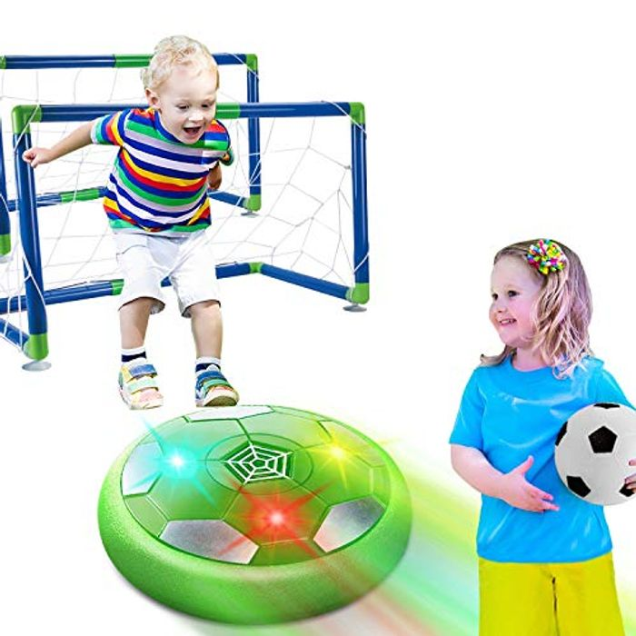 Kids Toys Hover Soccer Ball Set with 2 Goals - Only £8.99!