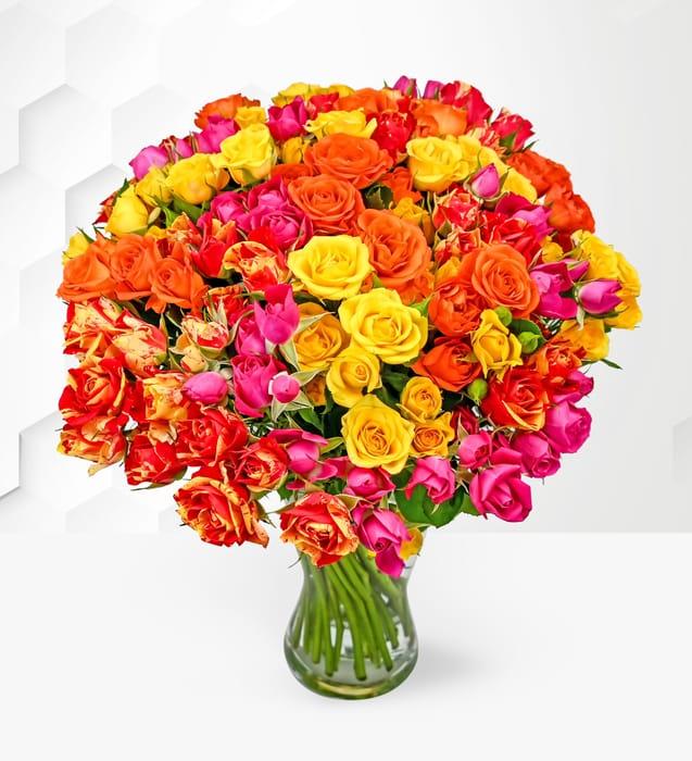 Beautiful Spray Roses plus Free Chocolates
