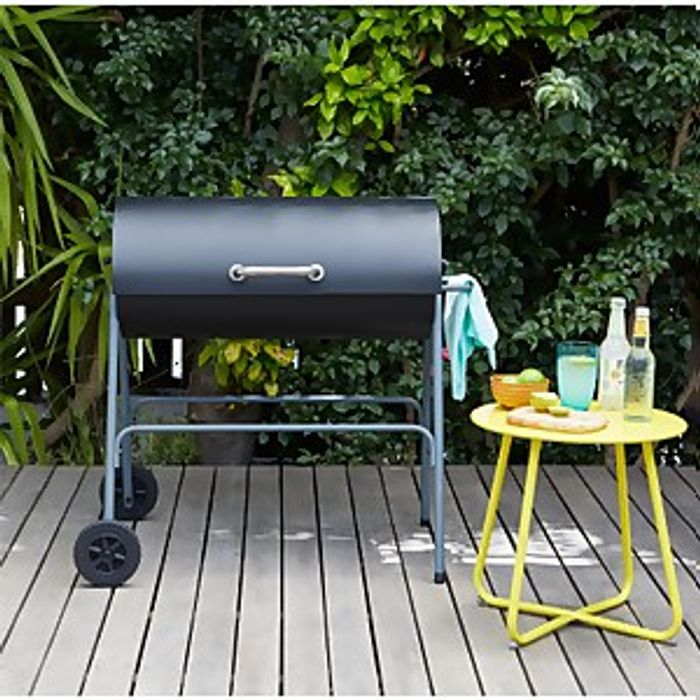 Texas Oil Drum Charcoal BBQ Only £25 with Free C&C Only BARGAIN