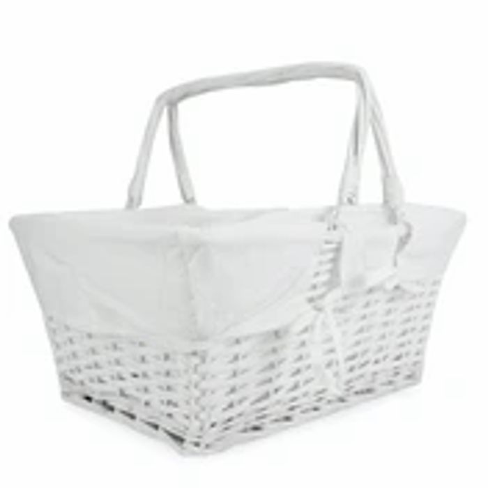 Willow Storage Basket with Cotton Lining
