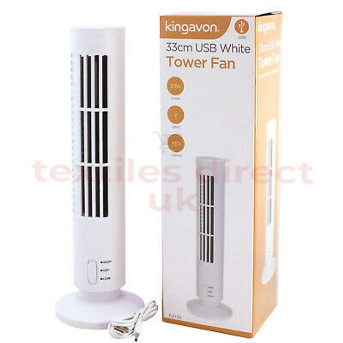 Special Offer! White USB Tower Cooling Air Cooler Oscillating Floor Fan New