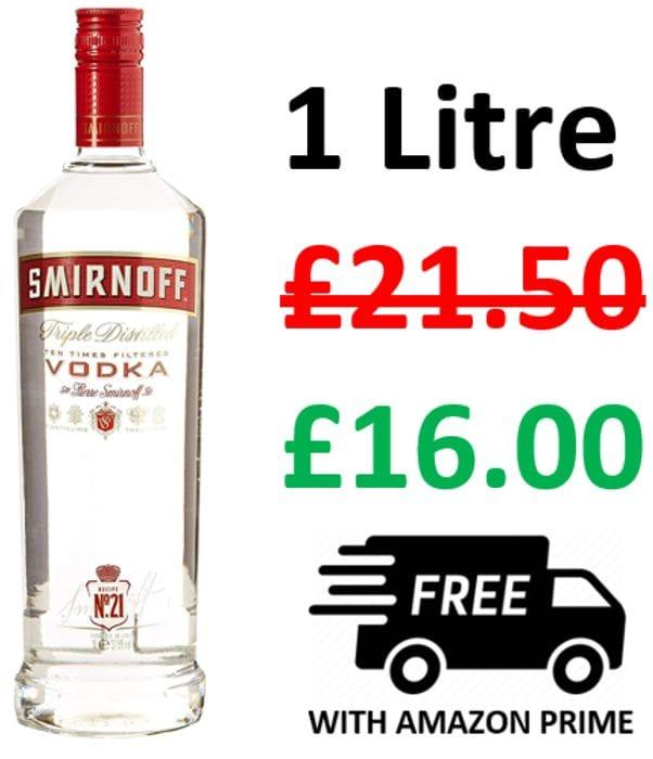AMAZON #1 BEST SELLER - Smirnoff Red Label Vodka