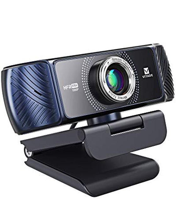 Vitade Streaming USB 1080P 60FPS Webcam with Dual Microphones - Only £24.99!