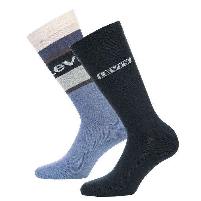 Levis Mens Colour Block 2 Pack Socks