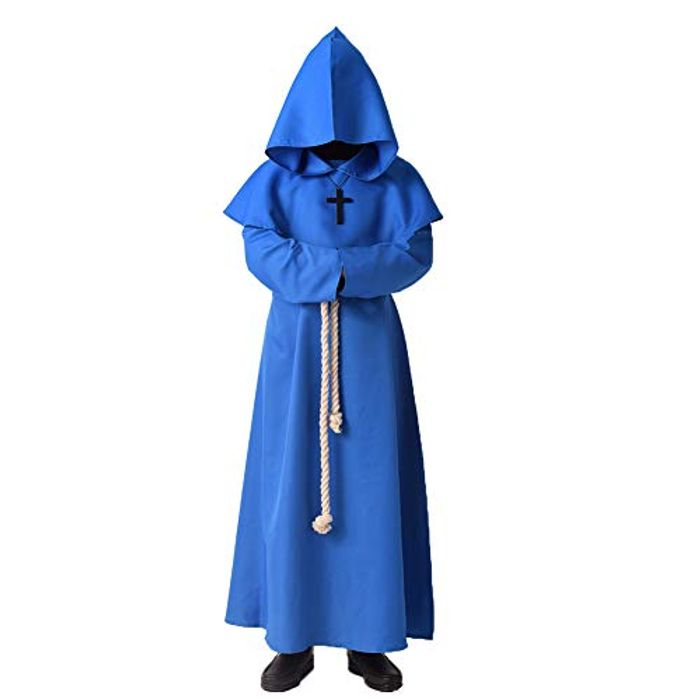 BLESSUME Medieval Hooded Priest Robe Renaissance Outfit Costume - Only £4.00!