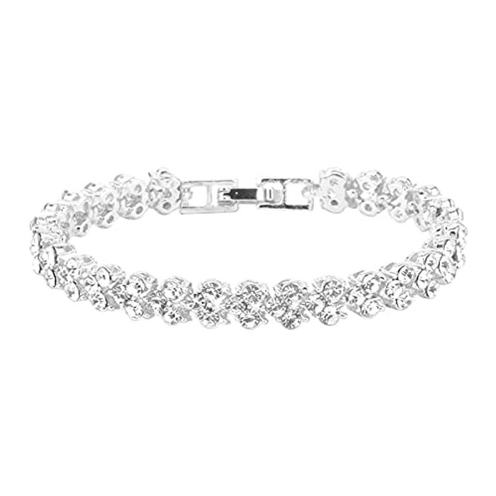 Ladies Crystal Charm Bracelet for Women Party Wedding Accessories - Only £2.99!