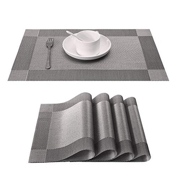 DEAL STACK - Placemats and Coasters Sets of 4 - Heat Resistant Heat + 20% Coupon