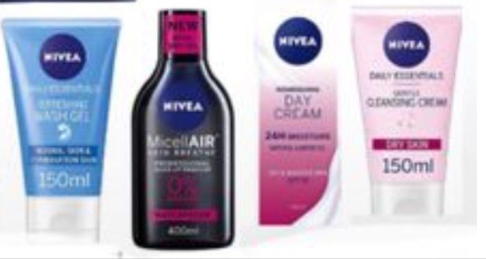 Save up to 1/2 Price on Nivea Skincare,NIVEA MicellAIR Micellar Water from £1.33
