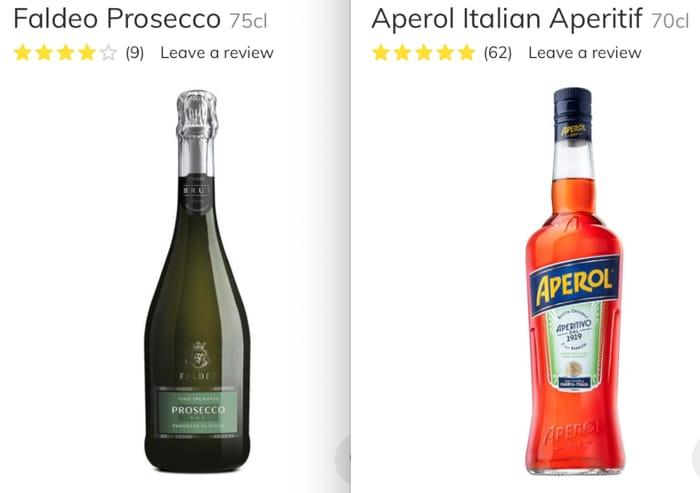 Aperol Spritz Bundle Only £15 Buy 1 Prosecco & 1 Aperol