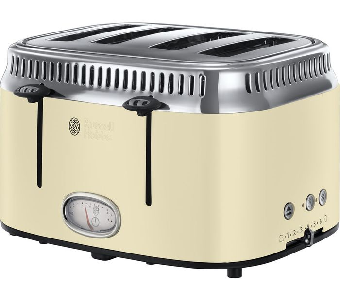 *SAVE £30* RUSSELL HOBBS Retro 4-Slice Toaster - 4 Colours