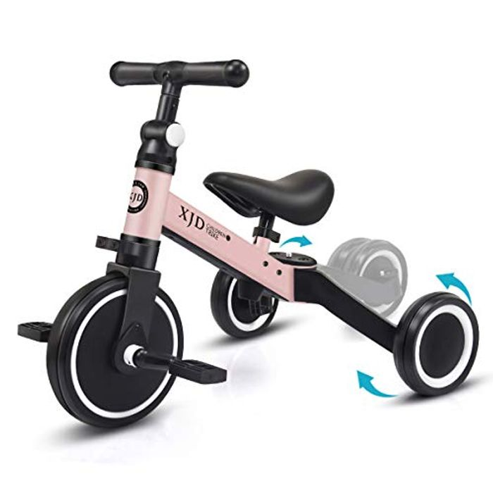 XJD 3 in 1 Kids Tricycles for 1-3 Years Old Toddler