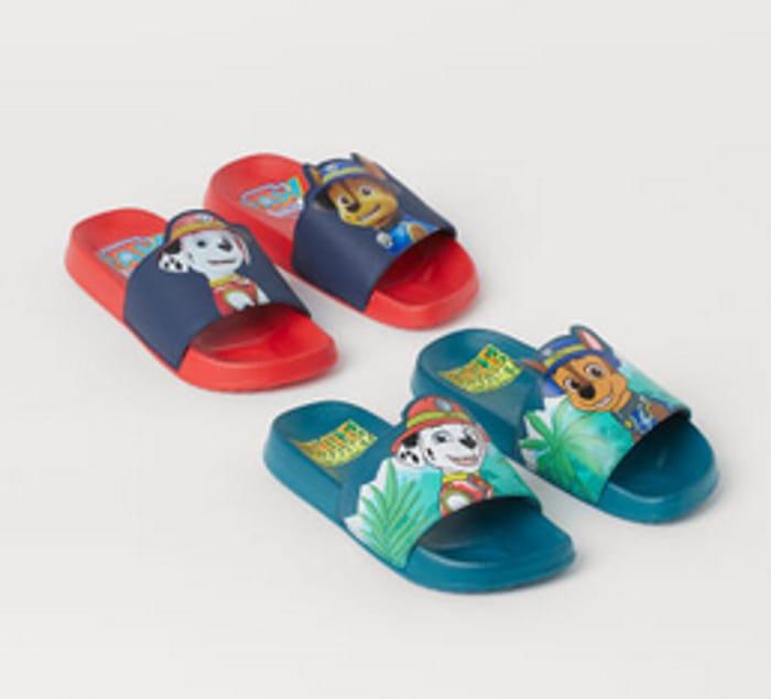 2 Pairs Printed Pool Shoes