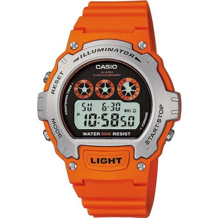 Casio Men's Orange Resin Strap Watch - Now £14.99!