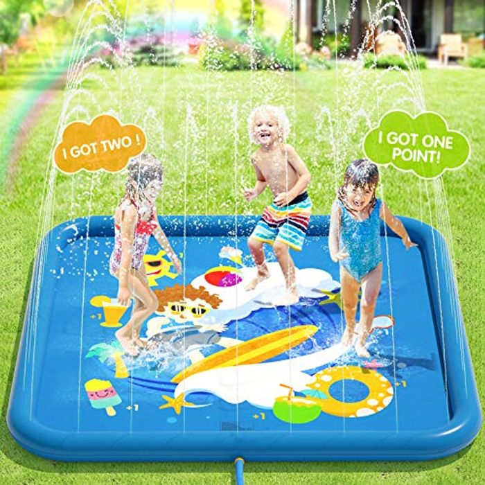 DEAL STACK - Peradix Water Sprinklers Play Mat Pad (Non-Inflatable) + 10% Coupon