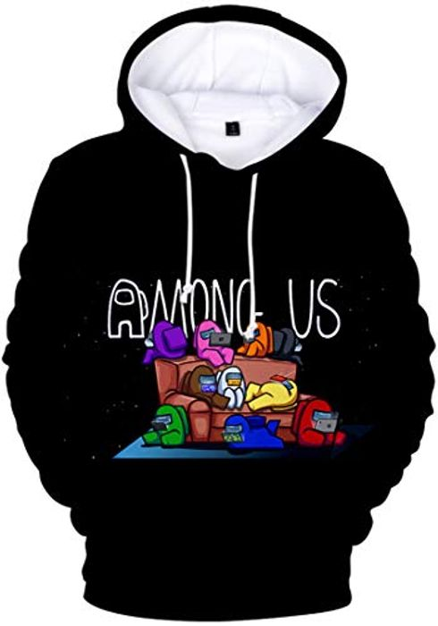Chaos World Men's among Us Hoodie 3D Printed Casual Pullover - Only £12.99!