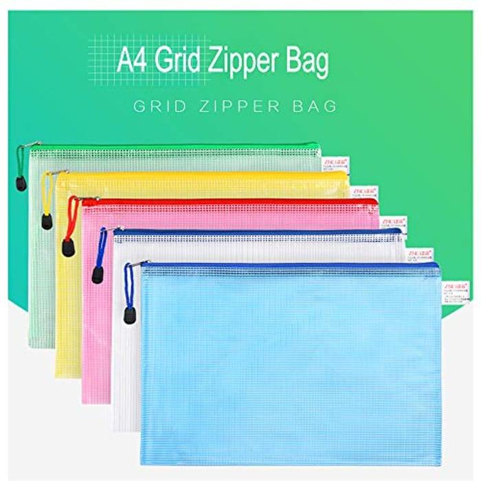 MerryNine 20 Pack Mesh Zipper Pouch Document Bag,