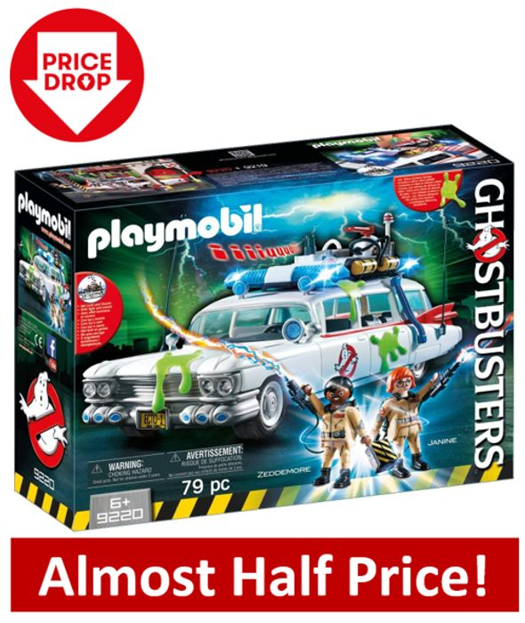 £20 OFF! Playmobil Ghostbusters Ecto-1 with Light and Sound Effects (9220)