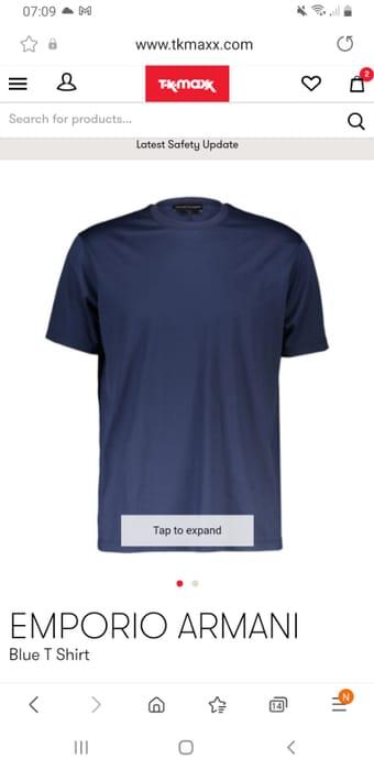 EMPORIO ARMANI Blue T Shirtl