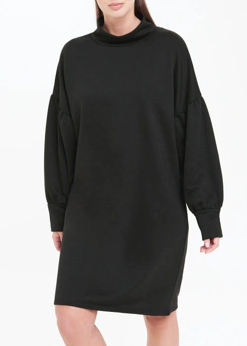 High Neck Sweatshirt Dress