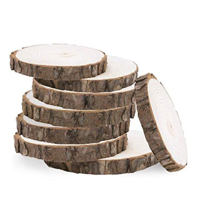 VORCOOL 10pcs Wood Slices